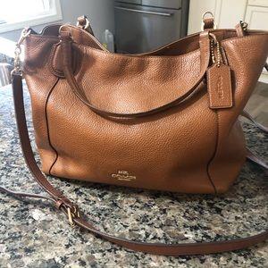 COACH Caramel Colored Leather Shoulder Bag
